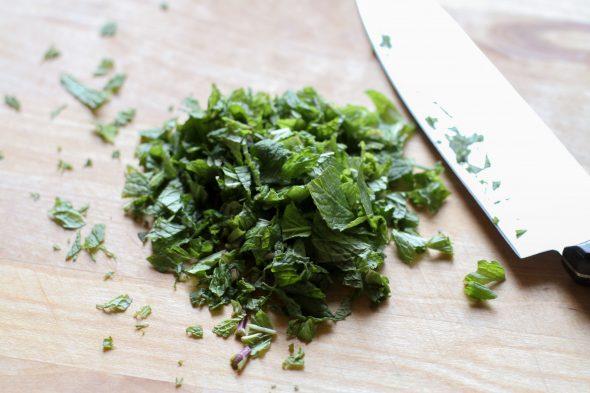 chopped mint