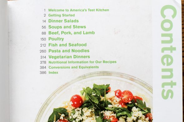 Dinner Illustrated table of contents