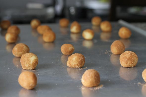 snickerdoodle dough balls