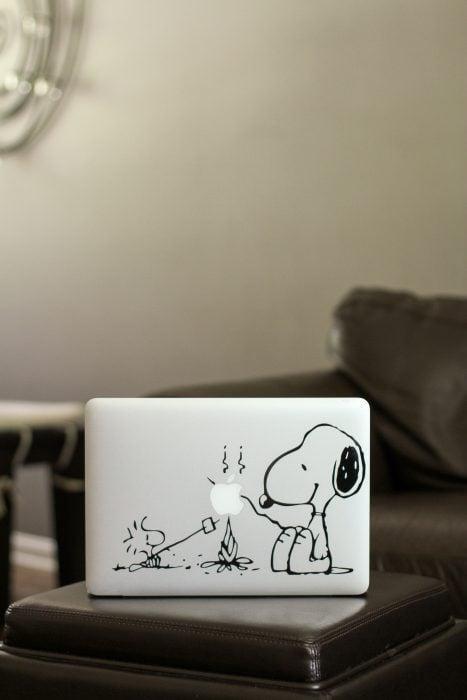 Snoopy Woodstock mac laptop decal