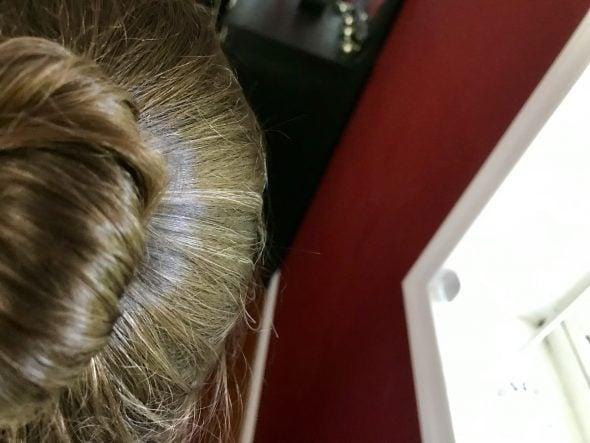 brown hair bun Kristen