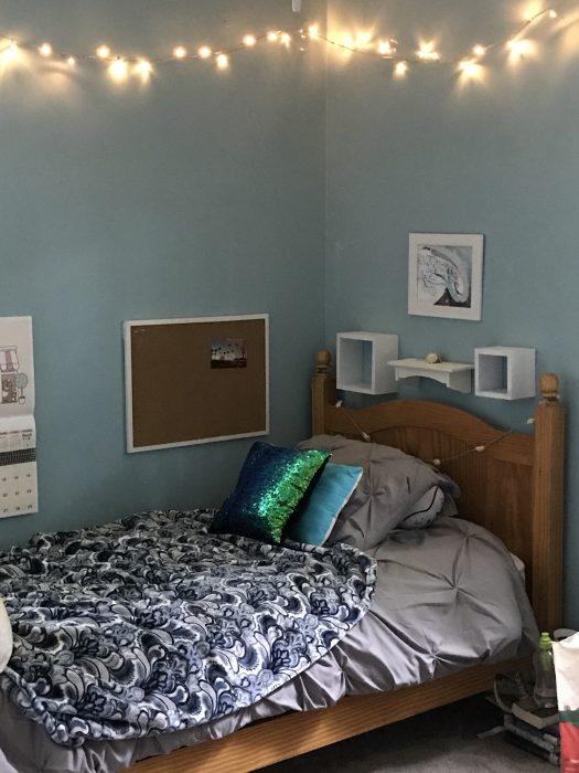 Zoe's bedroom walls