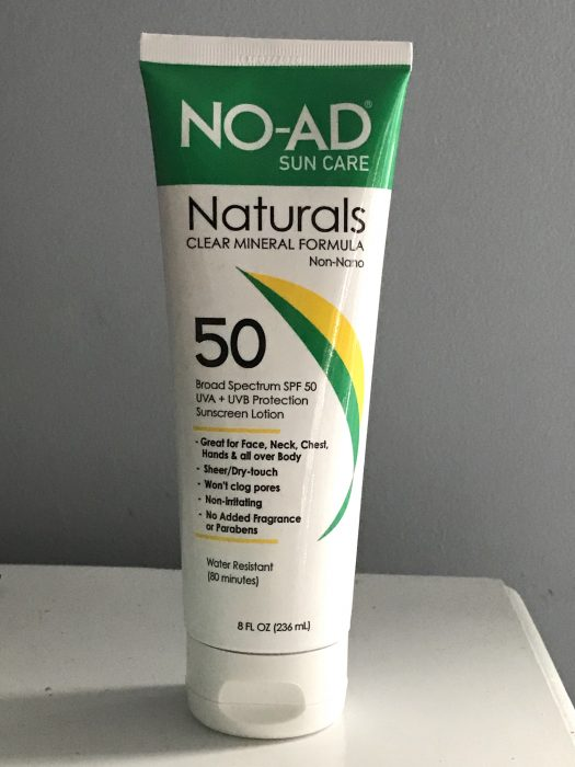 no-ad mineral sunscreen