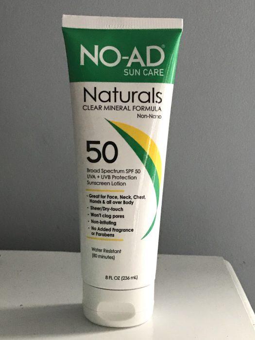 no-ad mineral sunscreen