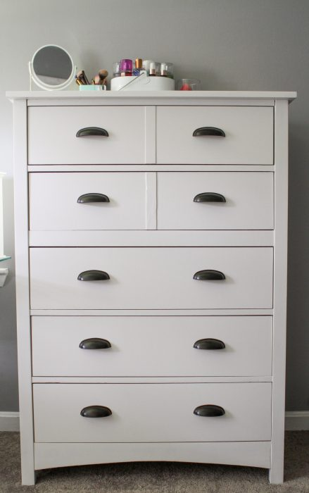 Bassett tallboy painted white