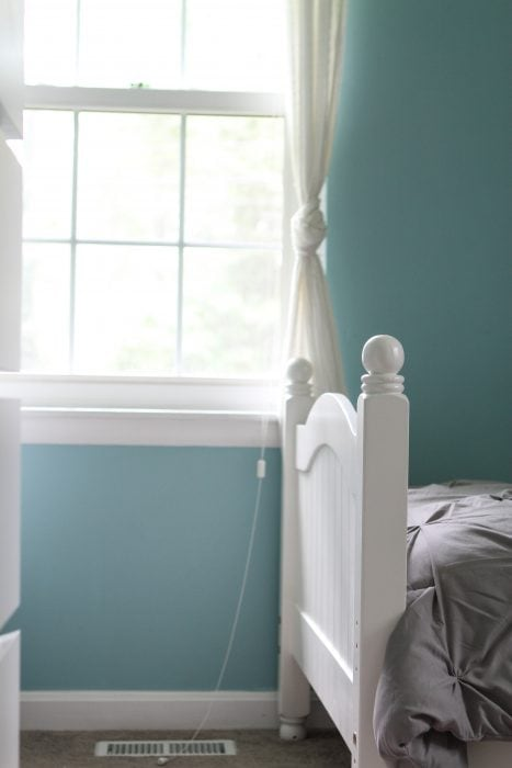 bed frame painted Cloud White