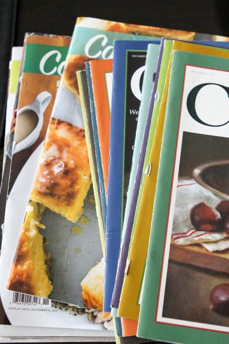 How to deal with cooking magazine clutter