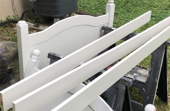 painting wooden bed frame