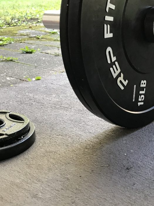 rep fitness bumper plate outside