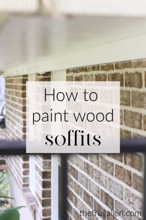 How to paint wood soffits