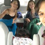 Kristen, Sonia, and Zoe in the van