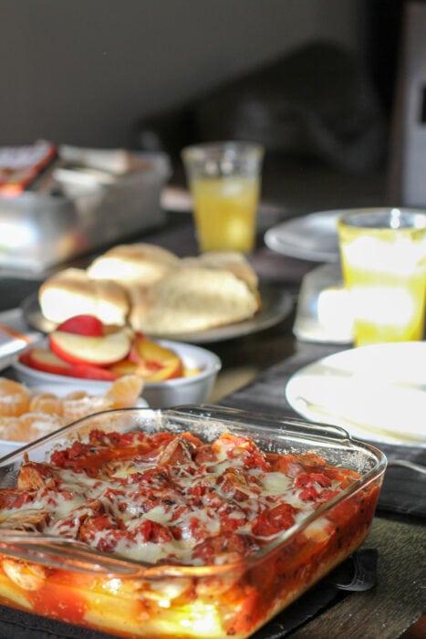 polenta cuite au four avec sauce tomate fumée