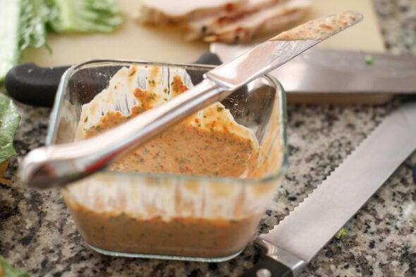 mayo de piment rouge et basilic
