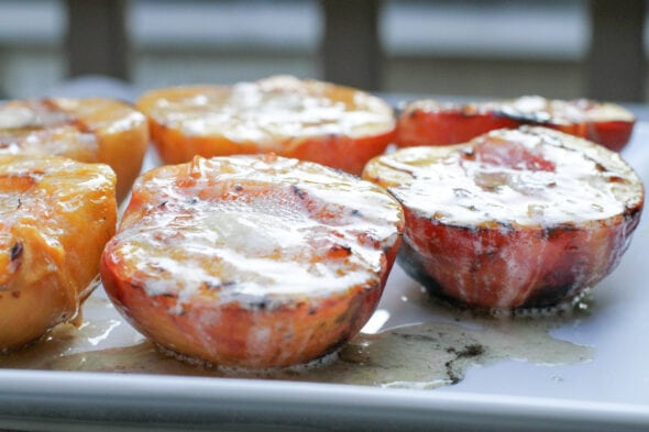 Bobby Flay grilled peaches