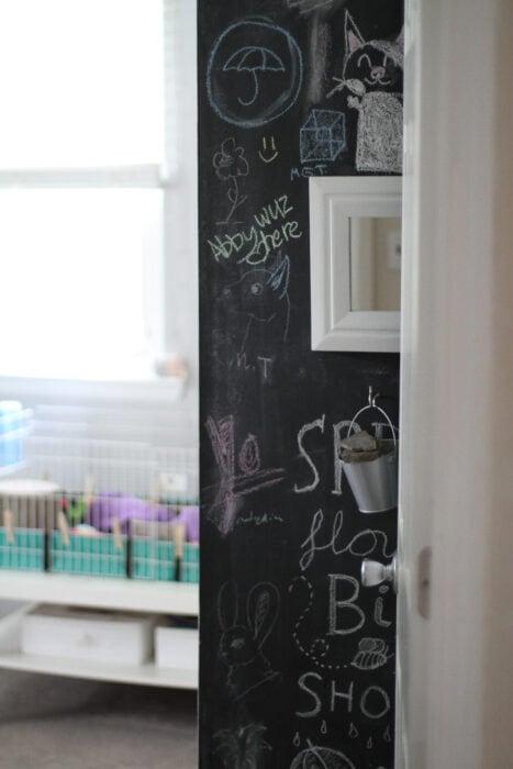 La parete della lavagna di Zoe