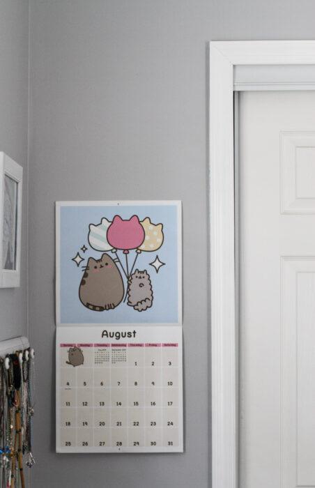 Zoe's pusheen calendar