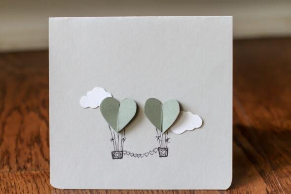 DIY anniversary card