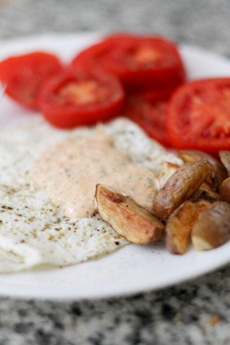 basil red pepper mayo