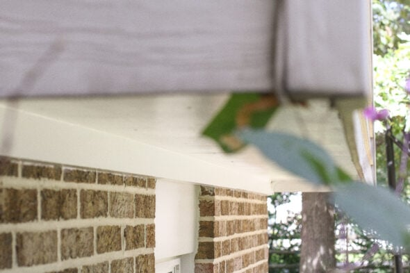 repainted plywood soffit