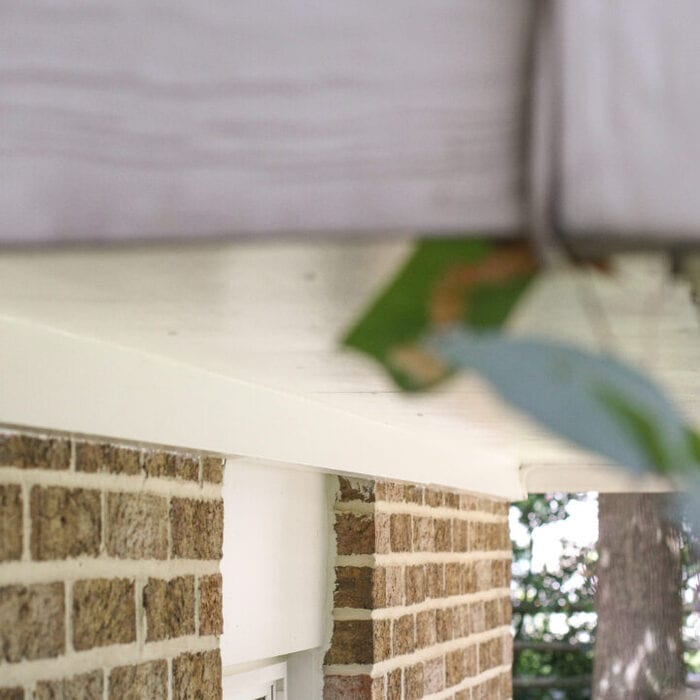 How to repaint wood soffits