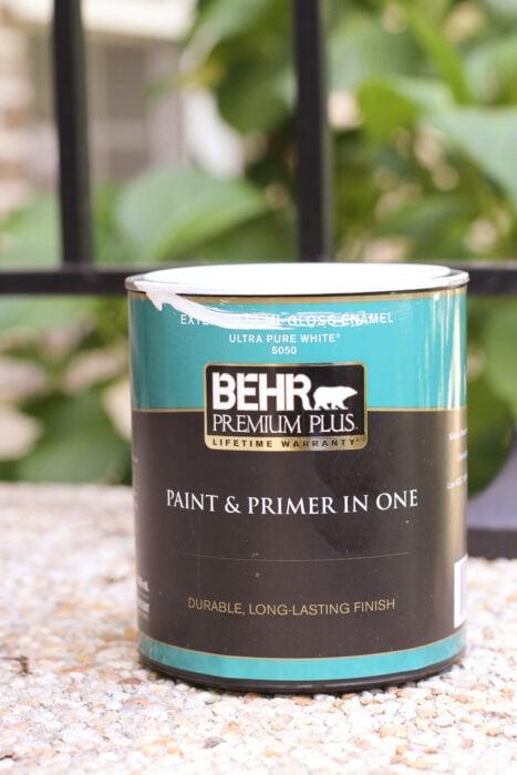 Behr exterior white paint