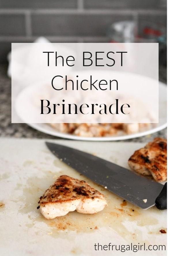 A quick and easy brine/marinade makes chicken breasts juicy and flavorful.