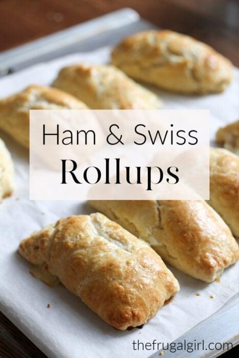 Homemade Ham and Swiss Rollups
