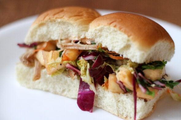 kalua pork sandwiches with slaw