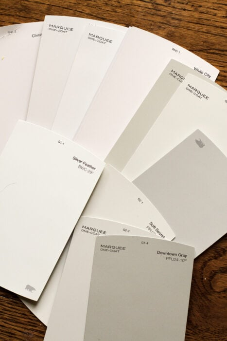 paint chips for Kristen's bedroom