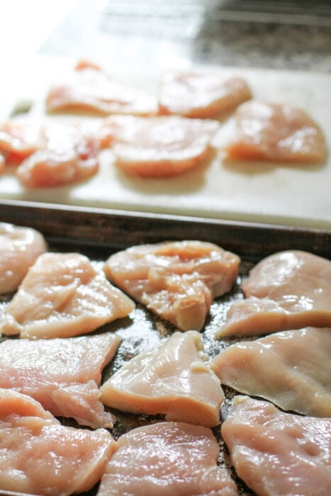 chicken breasts for freezing