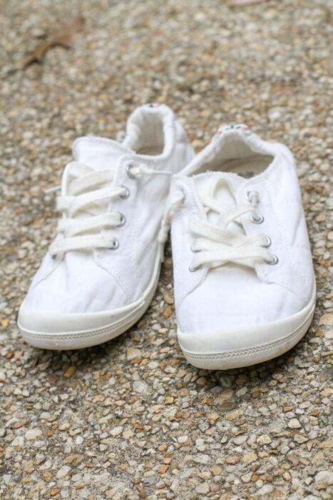 machine washed white shoes