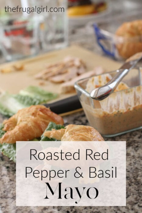 Roasted Red Pepper and Basil Mayo