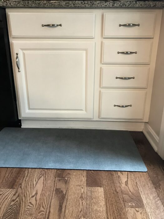 touched up kitchen cabinets