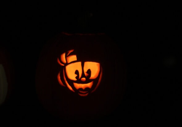 cuphead halloween pumpkin