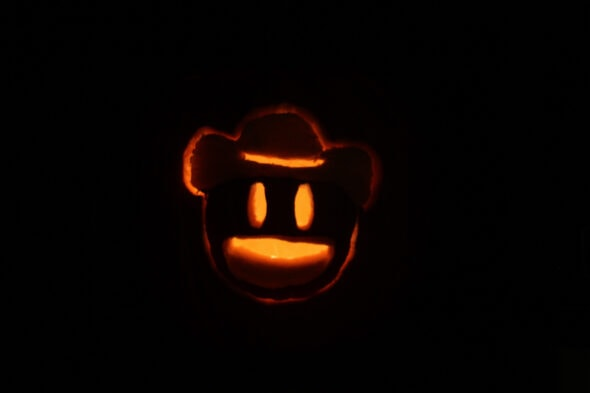 cowboy emoji pumpkin