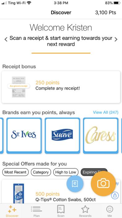 Fetch Rewards 2000 point bonus
