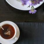 tea in white mug
