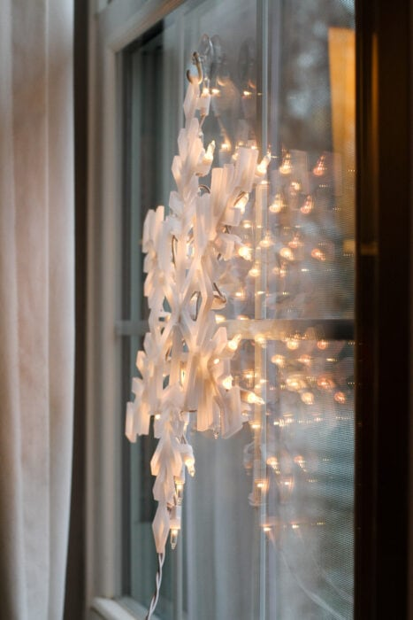snowflake window light from Aldi