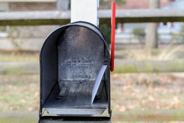 medical bill in mailbox