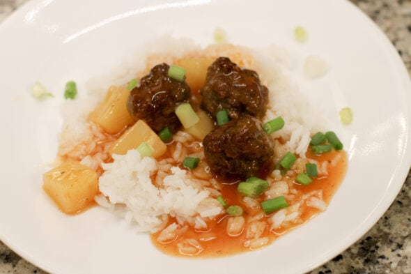 Pioneer Woman sweet and sour meatballs