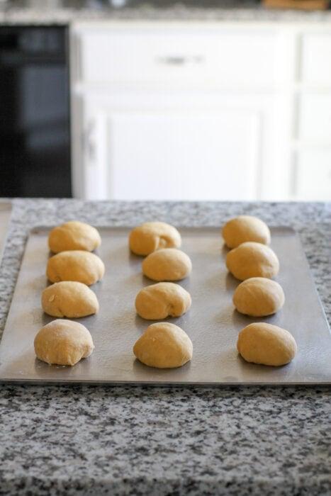 butternut squash rolls before rising