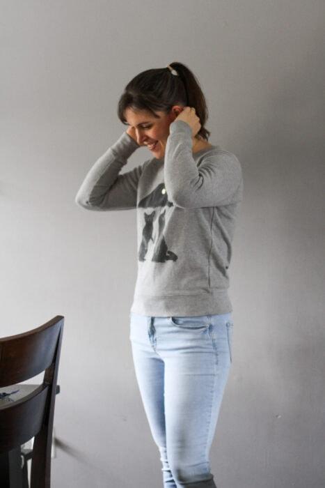 ThredUp cat sweatshirt