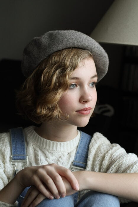 Sonia in a beret