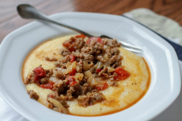 cheesy grits with sausage