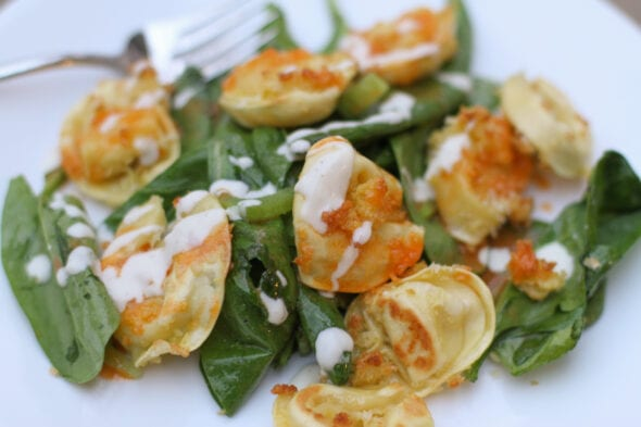 Dinnerly buffalo tortellini salad