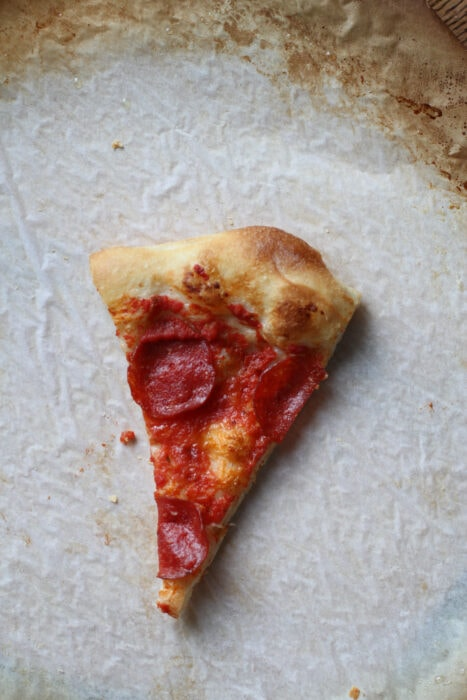 no-cheese pizza