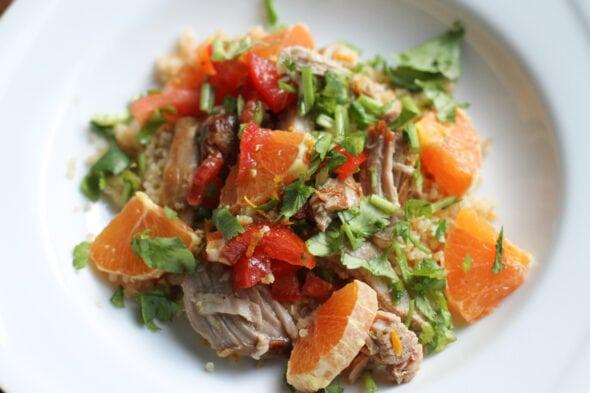 pork quinoa bowl