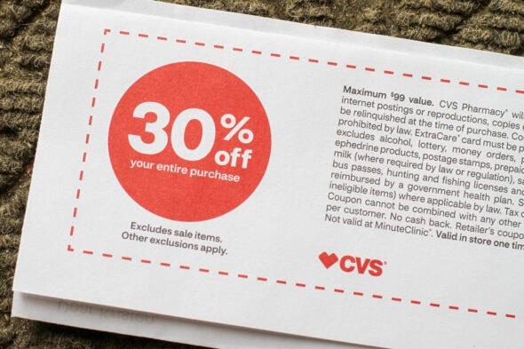 CVS 30% mail coupon