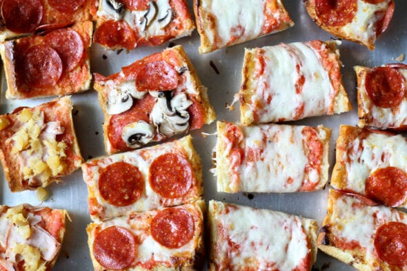 Cook's Country French bread pizza