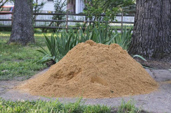concrete sand in driveway